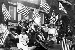 Suffragettes celebrate the 19th Amendment, 1920