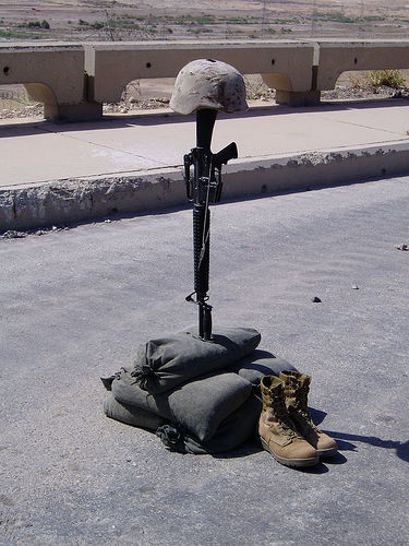 soldiers cross