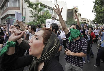 women demonstrators iran