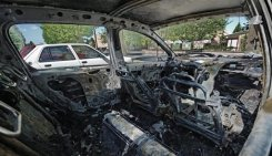 Burnt car July 14 09