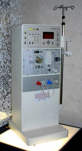 Dialysis machine without a patient; comingsoon from Gov't healthcare!