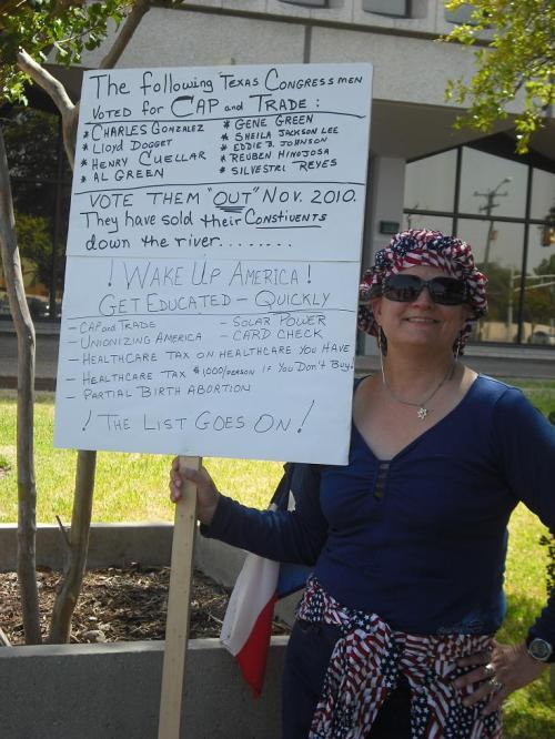 lady protester