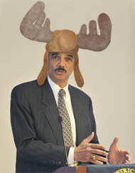 eric holder moose hat